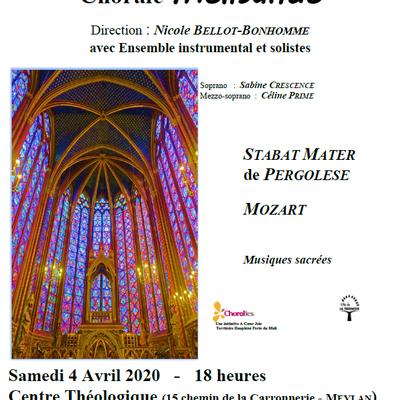 Concert à Meylan le 4 Avril 2020