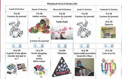 Planning semaine 42