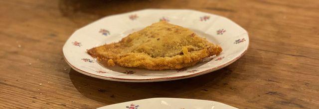 Crêpes panées jambon blanc et mozzarella