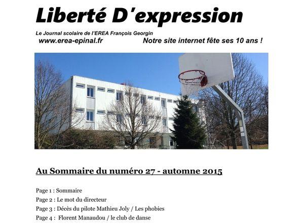 """""""Liberté D'expression"""" n°27 (automne-hiver 2015)"""
