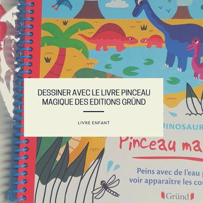 Dessiner avec le livre Pinceau Magique des Editions Gründ