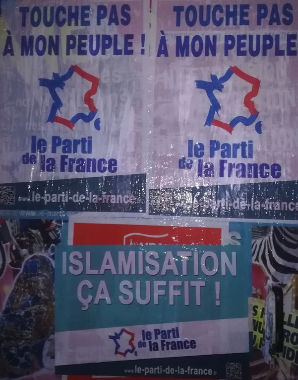 Nouvelle campagne d'affichage du Parti de la France : « Touche pas à mon peuple ! »