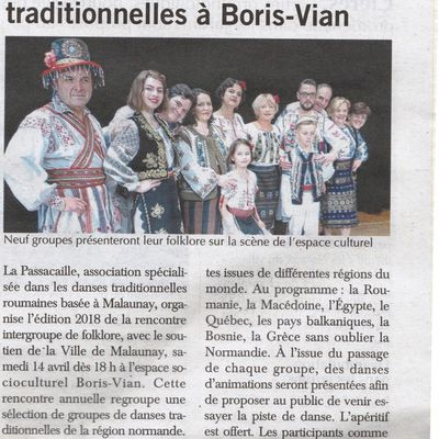 Article Paris-Normandie du 13 avril 2018 - Intergroupe 2018