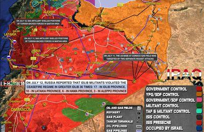 Situation militaire en Syrie au 12 juillet 2021 (Southfront)