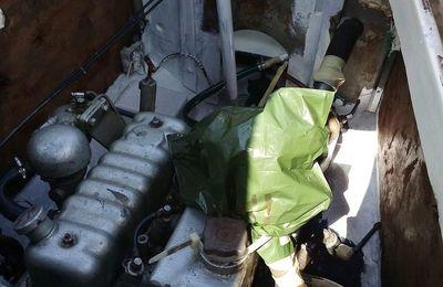 Motor y tambuchos exteriores....