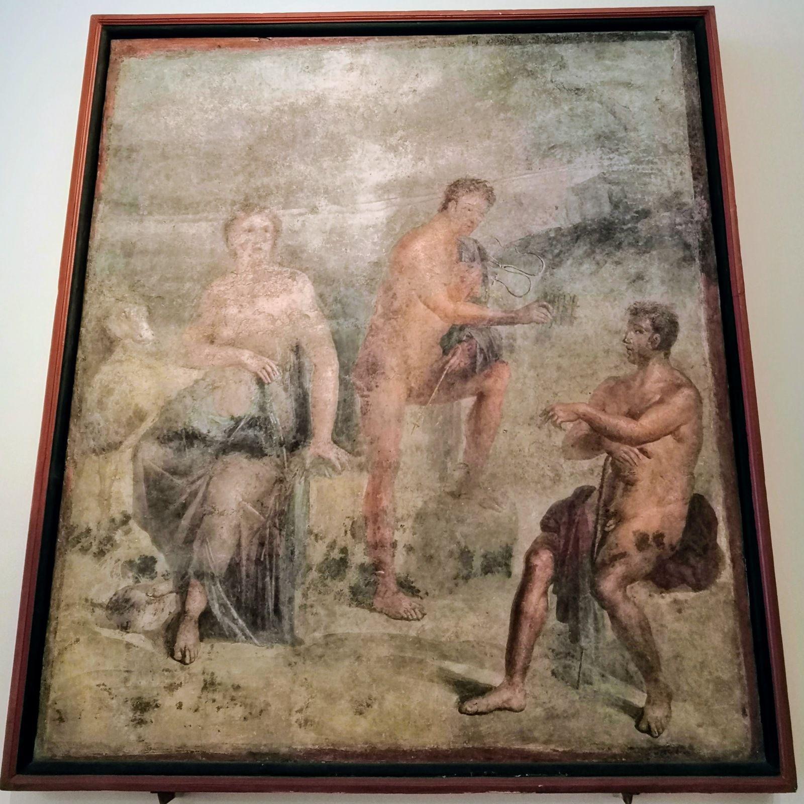Io, Argo ed Hermes, Tratto centrale della parete nord