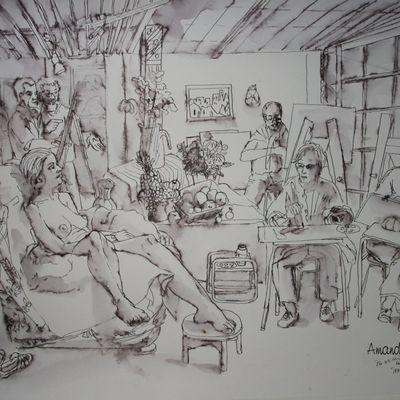 Scène d'atelier (37) : Les sandalettes