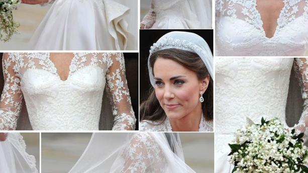 Kate Middleton robe de mariée en dentelle de Calais