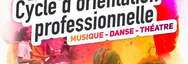 Appel à candidatures pour le cycle d'orientation professionnelle dans le domaine des arts de la scène - Région Guadeloupe