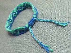 tutoriel et patron: bracelet brésilien motif vague grecque
