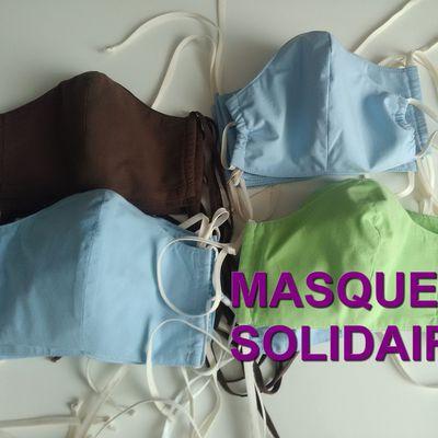 Masque de protection pour le visage, en tissu, lavable.