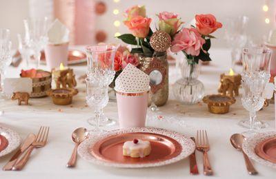 Sweet party 'Coup de foudre à Bollywood' en rose gold
