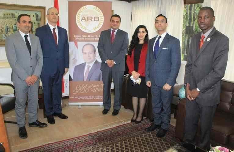 L'Ambassadeur de l'Egypte en Côte d'Ivoire a réceptionné le Trophée Babacar NDIAYE 2020 au nom du Président Abdel Fattah al-SISI