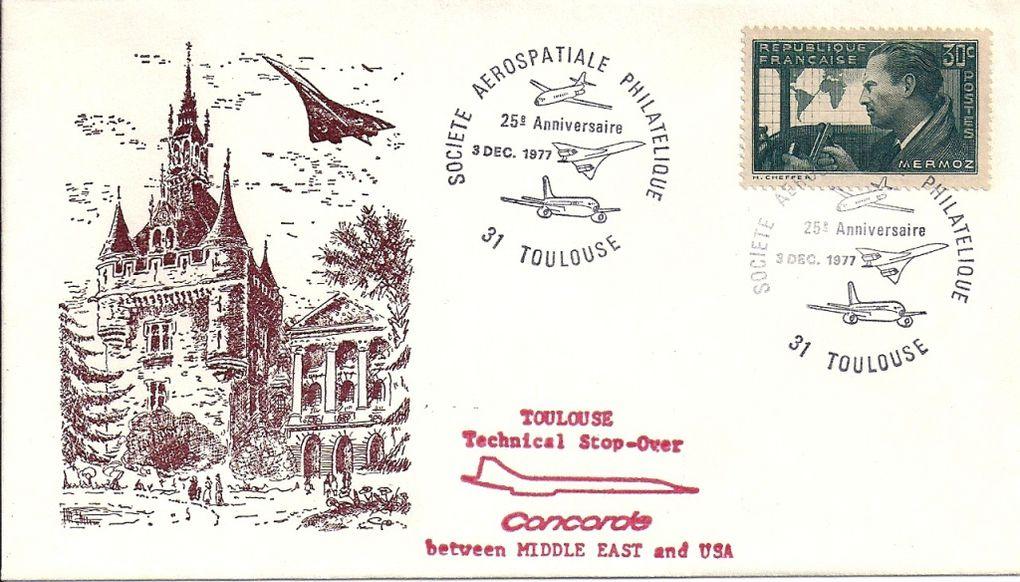 Le Concorde sur enveloppe
