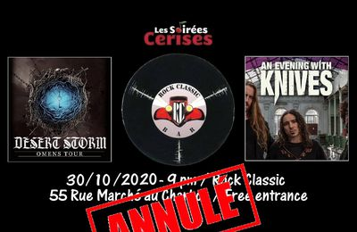 🎵 Desert Storm (UK) +An Evening with knives (NL) @ Rock Classic - 30/10/2020 - annulé
