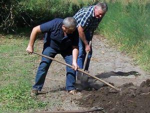 Nos jardiniers en pleine démonstration