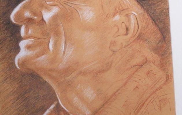 Le portrait aux trois crayons...Jean Alexandre Delattre.