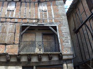 Les vieilles maisons à colombage de Lautrec