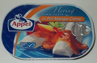 Appel Hering Zarte Filets in Piri-Mango-Creme