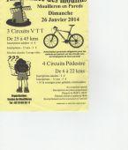 Randonnee des moulins, MOUILLERON EN PAREDS (Sortie VTT du 26/1/2014 / Ref. : 30129)