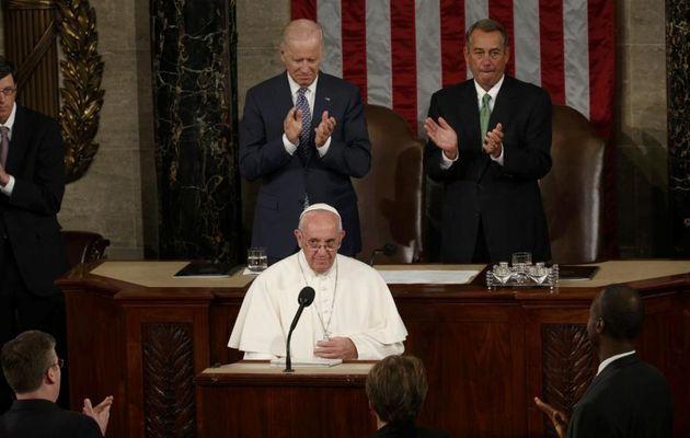 Peine de mort, réfugiés, environnement: le pape François face au Congrès américain