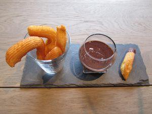 Churros de J.F.Piège sauce chocolat-Nutella