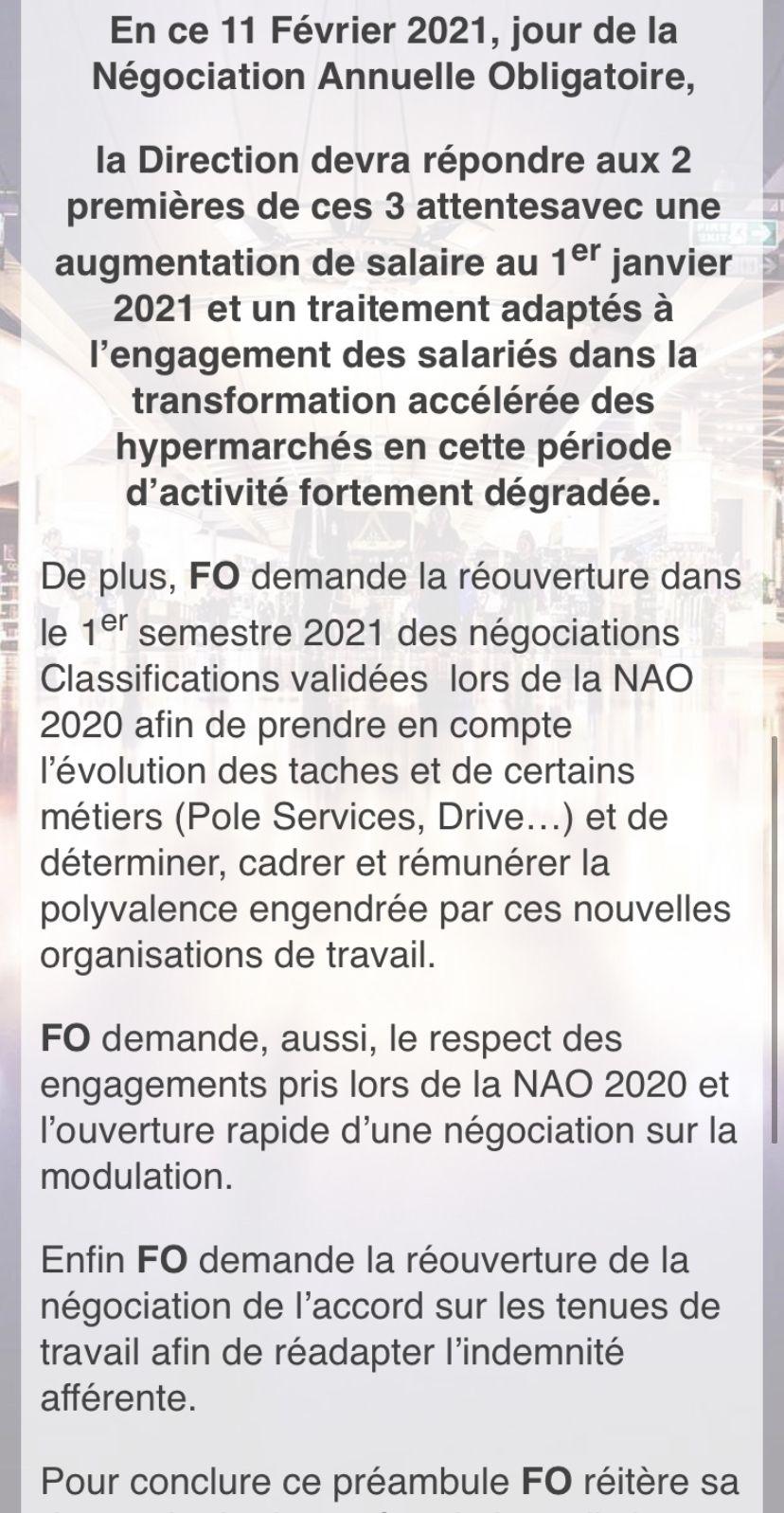 📣📣Suivez le déroulement des NAO Carrefour Hypermarchés ce jeudi 11 Février 2021 à partir de 14hoo sur notre site internet