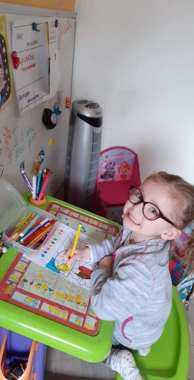Ateliers des TPS PS MS réalisés pendant l'école à la maison