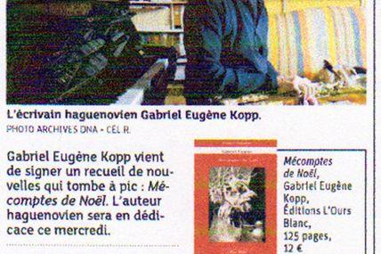 Gabriel Eugène Kopp et les Mécomptes de Noël à l'honneur