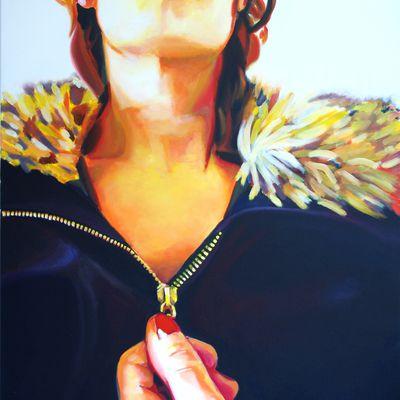 Zip ! Nouveau tableau peinture acrylique format 112X96