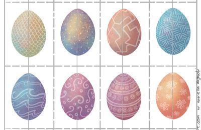 Jeu memory de Pâques