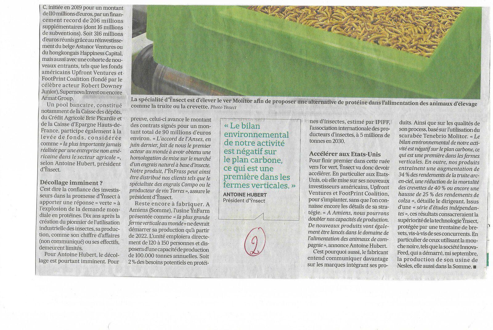 Vu et lu dans Les Echos du 07/10/20