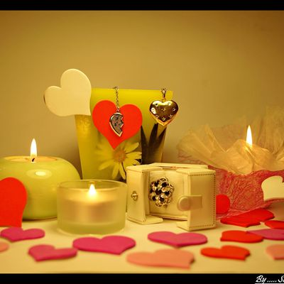 Bougies et St Valentin ...