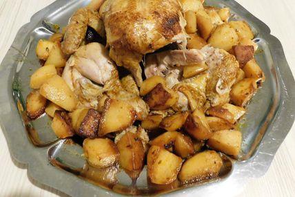 Poulet entier et ses pommes de terre (le tout au Paprika) au Cookéo