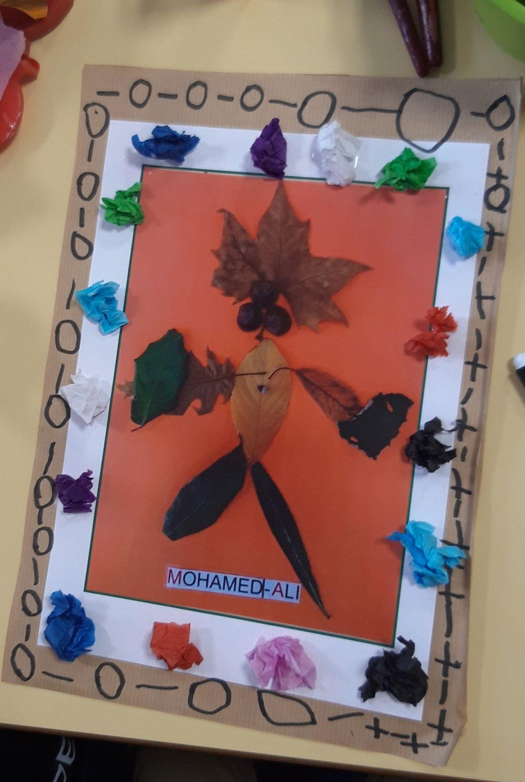 Automne et créations à l'école maternelle