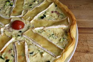 Tarte courgette & camembert :)