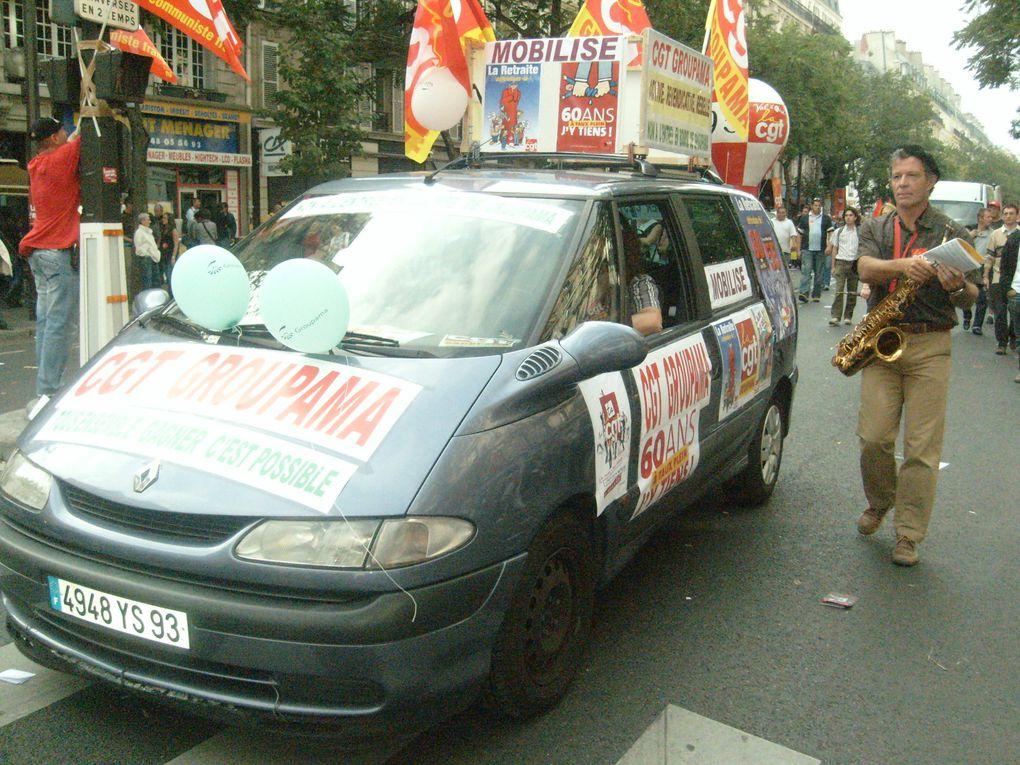 Les Groupama se retrouvaient dans la rue le 7 septembre pour défendre les retraites