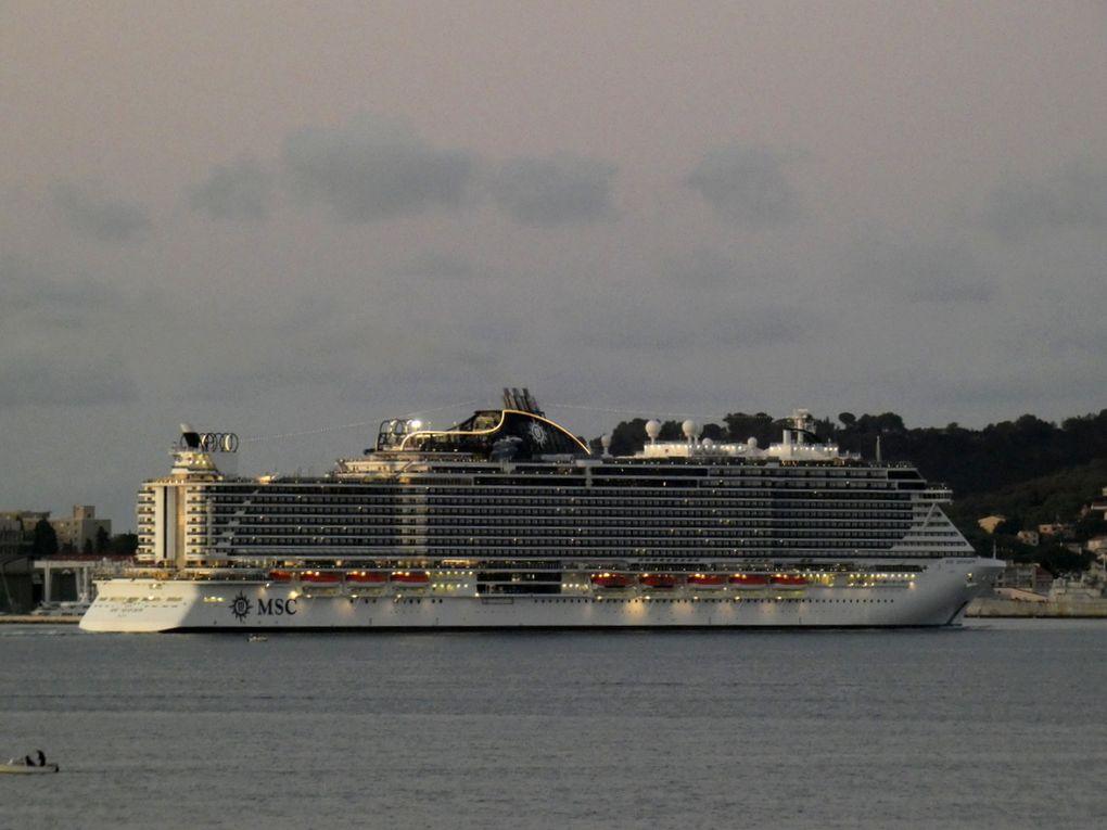 MSC SEAVIEW arrivant et a quai à la Seyne sur Mer le 29 septembre 2019