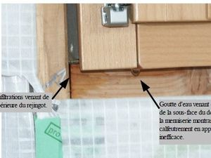 infiltrations fenêtres minco