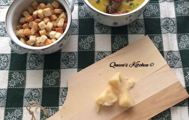 giornata difficile? consolati con la crema di patate allo zafferano, con capocollo croccante e funghi arrostiti D'Amico