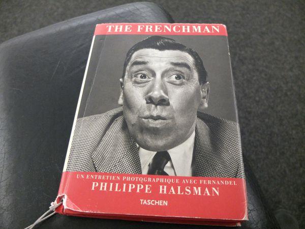 """"""" The Frenchman """" de Philippe Halsman. Le principe : une question et une réponse en image avec le génial et expressif Fernandel. J'adooore !"""