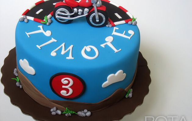 "Gâteau ""Moto"" - Torta Motor"