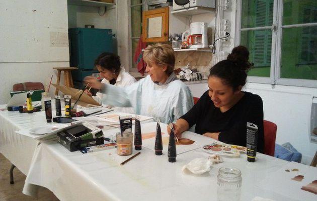 Cours de peinture acrylique - Vendredi 20 novembre 2015 - Fabienne Coz