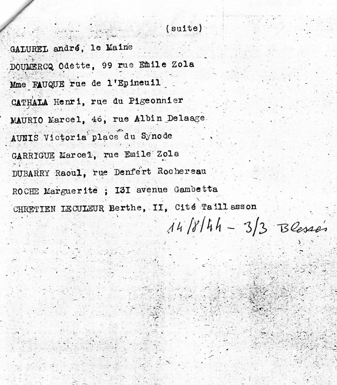 Le 8 août 2021... quatre frères allemands offrent à la ville de Saintes... 2000 € pour le mal fait à la France par l'Allemagne (A suivre car cette opération est en cours)