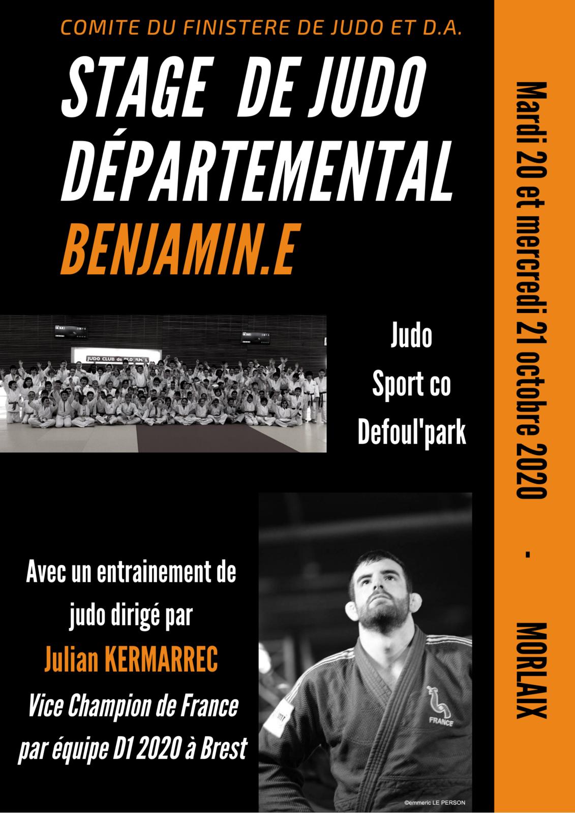 Stage de judo départemental Benjamin.es