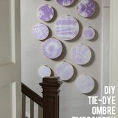 inspired by charm reviews: Tie-Dye Ombre Embroidery Hoop Art // Tulip Tie-Dye