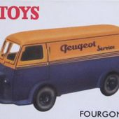 FOURGON TOLE PEUGEOT D3A PEUGEOT SERVICE DINKY TOYS REEDITION ATLAS 1/43 - car-collector