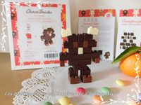 Chocochou, le bonhomme gourmand en bricks de chocolat