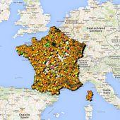Carte de France de la gravité des accidents de la route - Chroniques Cartographiques