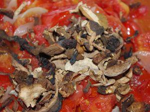 Sauce tomate aux cèpes en conserve